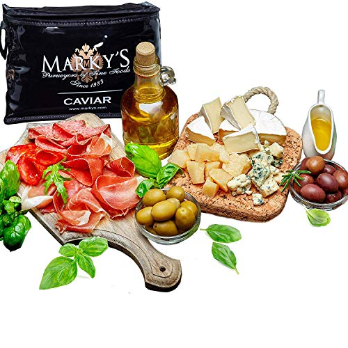 Markys Caviar Gourmet Gift Basket - Deluxe Cheese and Deli Meat...