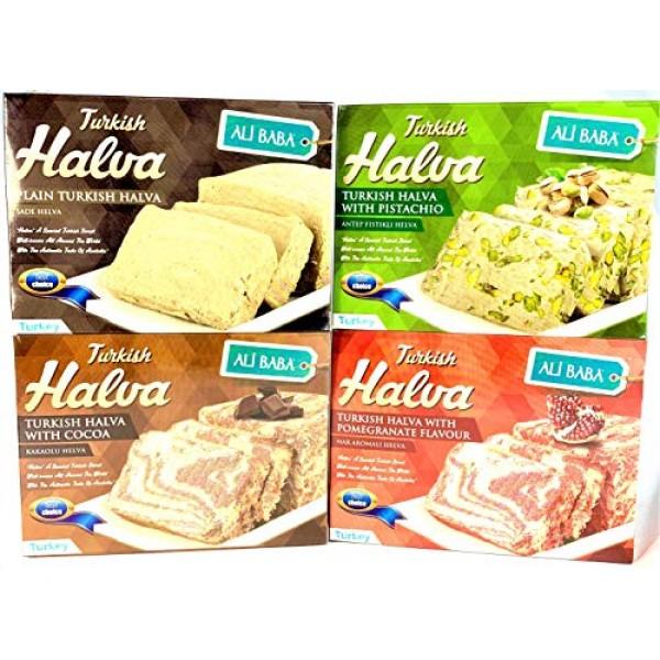 Halva Mixed Variety Pistachio Pomegranate Cacao Plain Sesame Bas...
