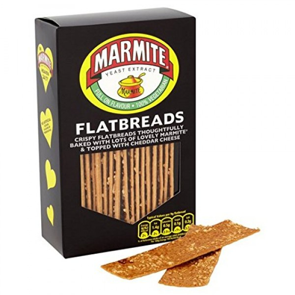Fudges Marmite Flavoured Flatbreads 140G