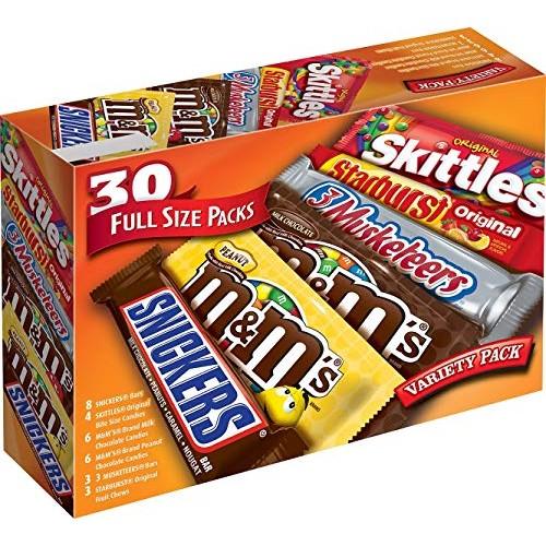 Mars M&MS, Snickers, 3 Musketeers, Skittles & Starburst Full Si...