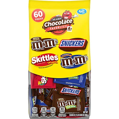 MARS Chocolate Favorites Variety Mix 60-Piece Bag, 32.97 Ounce