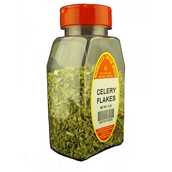 CELERY FLAKES FRESHLY PACKED IN LARGE JARS, spices, herbs, seaso...