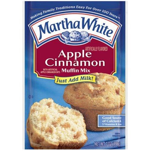 Martha White Muffin Mix Apple Cinnamon 7.0 oz. Pack of 6