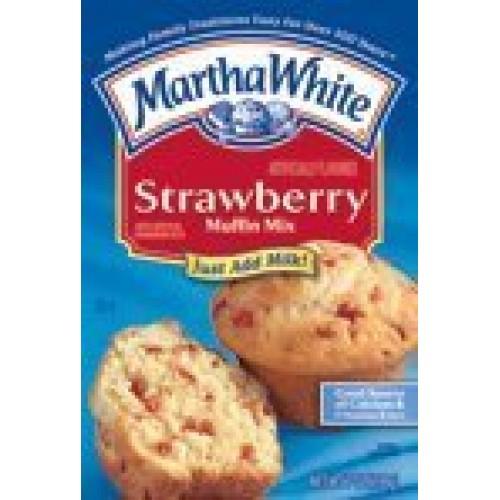 Martha White Muffin Mix - Strawberry - 7 oz Pack of 6