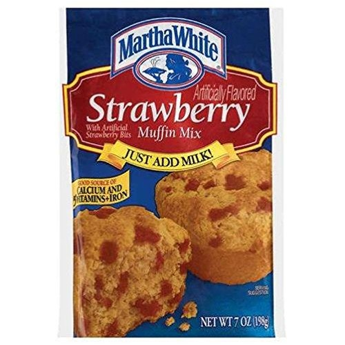 Martha White Strawberry Muffin Mix Pack of 4 7 oz Bags