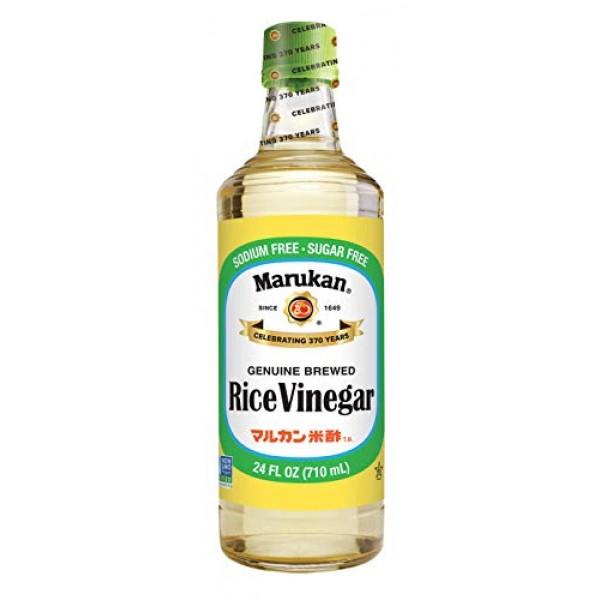 Marukan Genuine Brewed Rice Vinegar, 24 oz