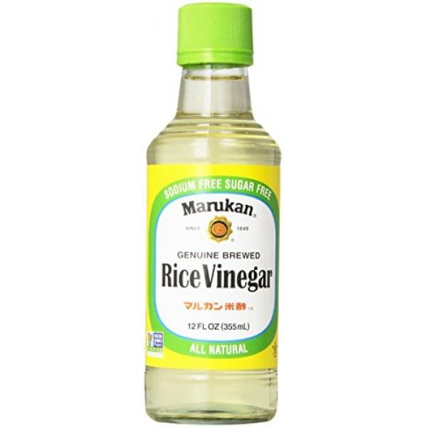 Marukan Genuine Brewed Rice Vinegar, 12 Fl Oz