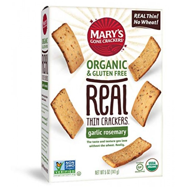 Marys Gone Crackers Real Thin Crackers, Made with Real Organic ...