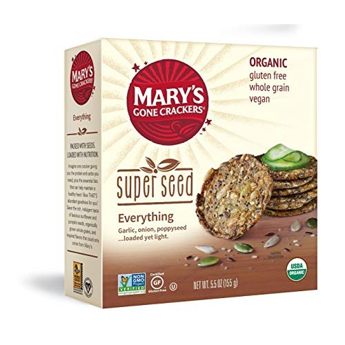 Marys Gone Crackers Super Seed Crackers, Organic Plant Based Pr...
