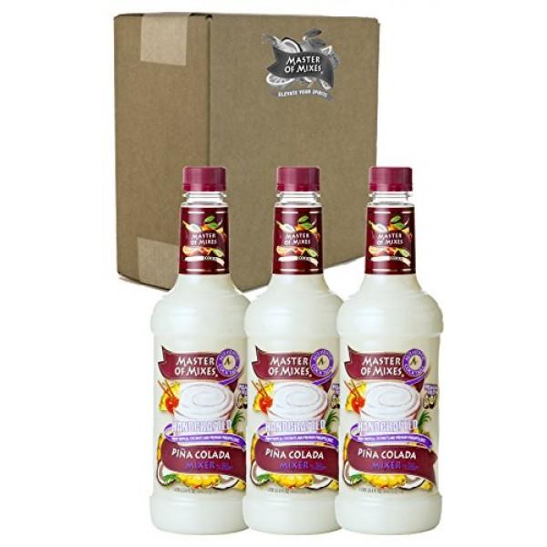 Master of Mixes Pina Colada Drink Mix, Ready To Use, 1 Liter Bot...