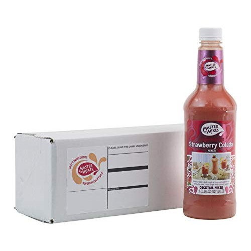 Master of Mixes Strawberry Colada Drink Mix, Ready To Use, 1 Lit...