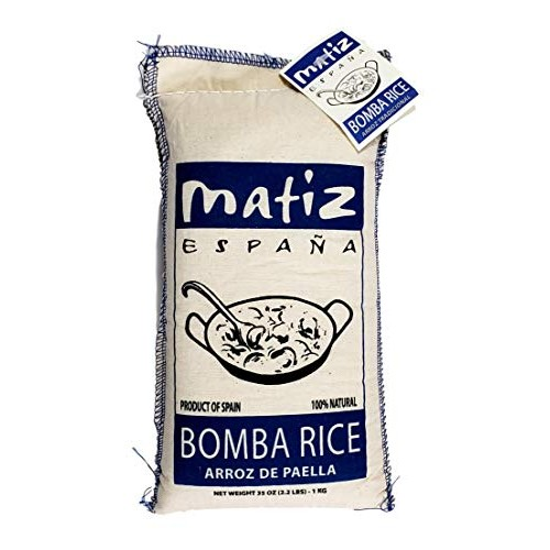 Matiz España Bomba Paella Rice from Spain 2.2 lbs. Firm, Natur...