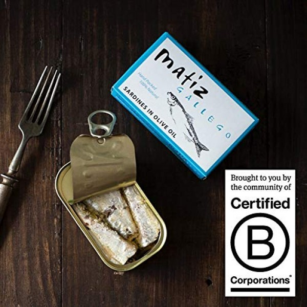 Matiz Sardines in Olive Oil, 4.2 Ounce Can Pack of 5 Spanish G...