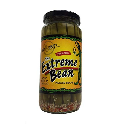 The Extreme Bean - Hot & Spicy, Pickled Green Beans. 16 oz 3 pack
