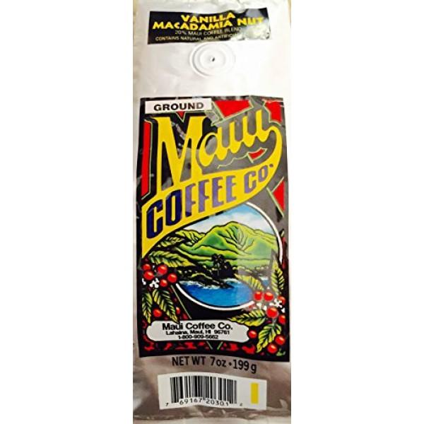 Maui Coffee Company, Maui Blend Vanilla Macadamia Nut coffee, 7 ...