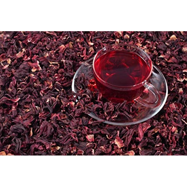 Hibiscus flower. 100% Natural Dried Hibiscus Flower Cut & Sifted...