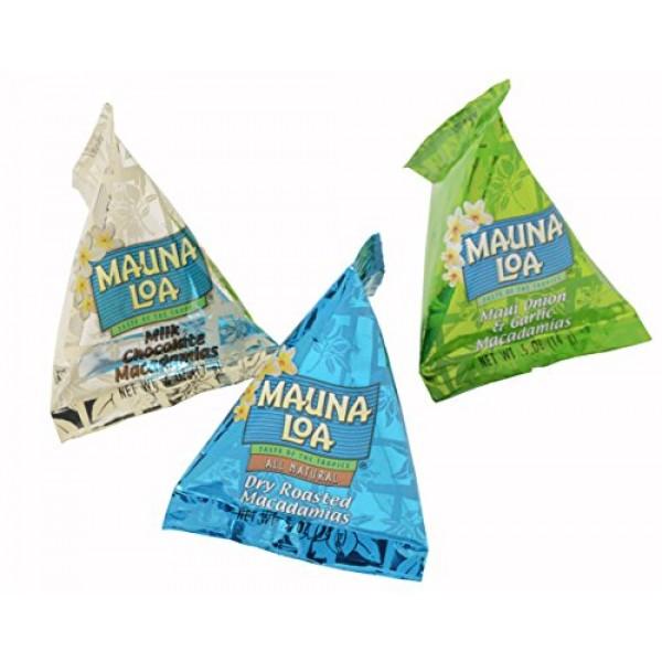 Macadamia Trio 36 Assorted Bite Size Packs Maui Onion & Garlic,...