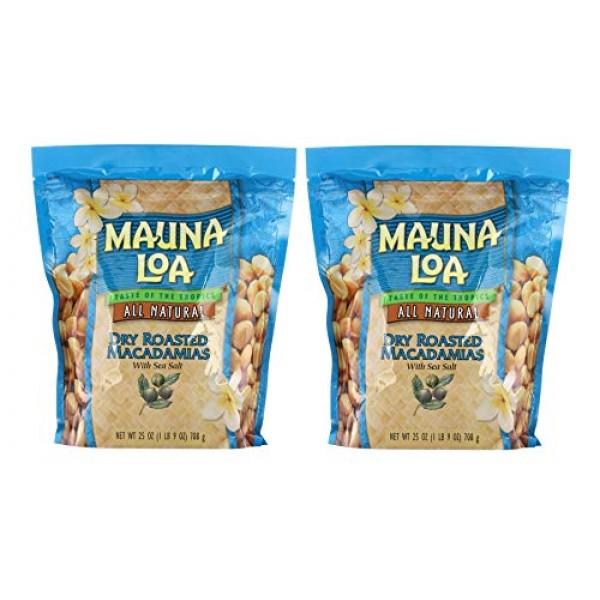 Mauna Loa Dry Roasted Macadamia Nuts with Sea Salt All Natural, ...