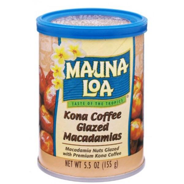 Mauna Loa Macadamias, Kona Coffee Glazed, 5.5-Ounce Canisters P...