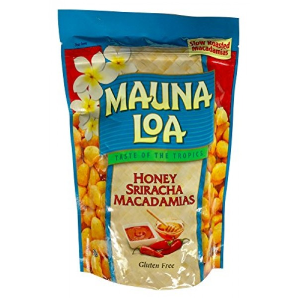 Mauna Loa Hawaiian Roasted Macadamia Nuts Honey Siracha, 10 Ounce