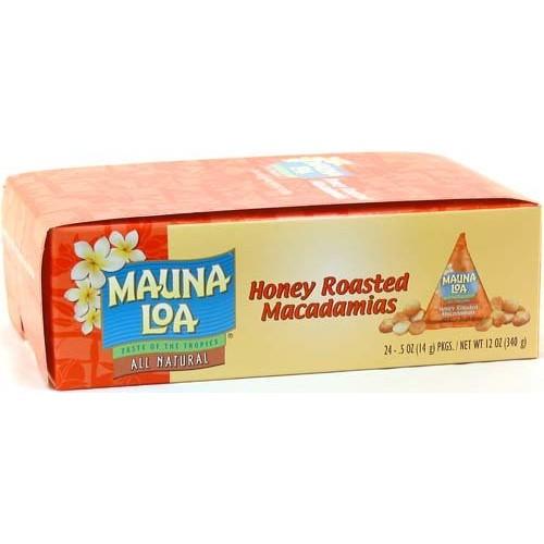 Mauna Loa Honey Roasted Macadamia Nuts, 0.5-Ounce Triangle Pack ...