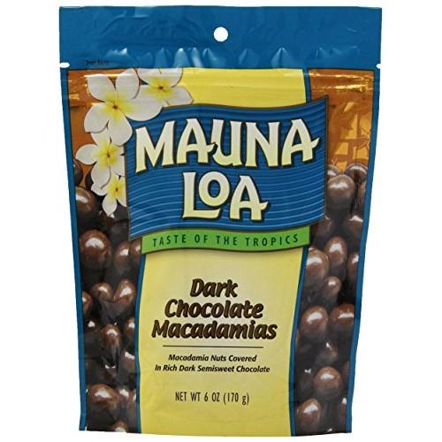 Mauna Loa Macadamias, Dark Chocolate, 6 Ounce Bag