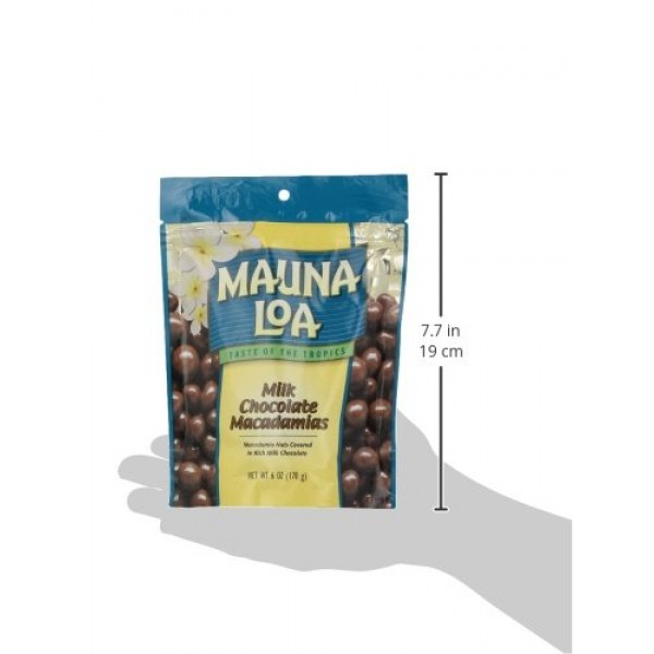 Mauna Loa Macadamias, Milk Chocolate, 6-Ounce Bags Pack of 4