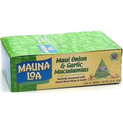 Mauna Loa Maui Onion & Garlic Macadamia Nuts, 0.5-Ounce Triangle...