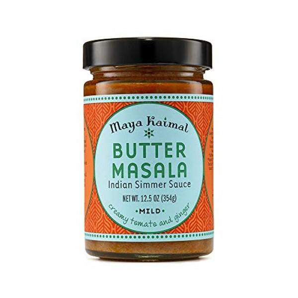 Maya Kaimal Butter Masala Sauce, 12.5 oz, Mild Indian Simmer Sau...