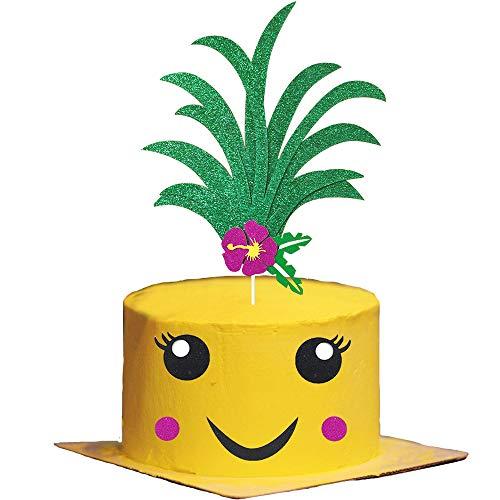 Glitter Pineapple Cake Topper,Pineapple Tropical Hawaiian Aloha ...