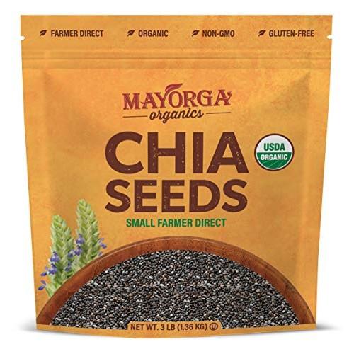 Mayorga Organics, 3lb Organic Raw Chia Seeds, 100% USDA Organic ...