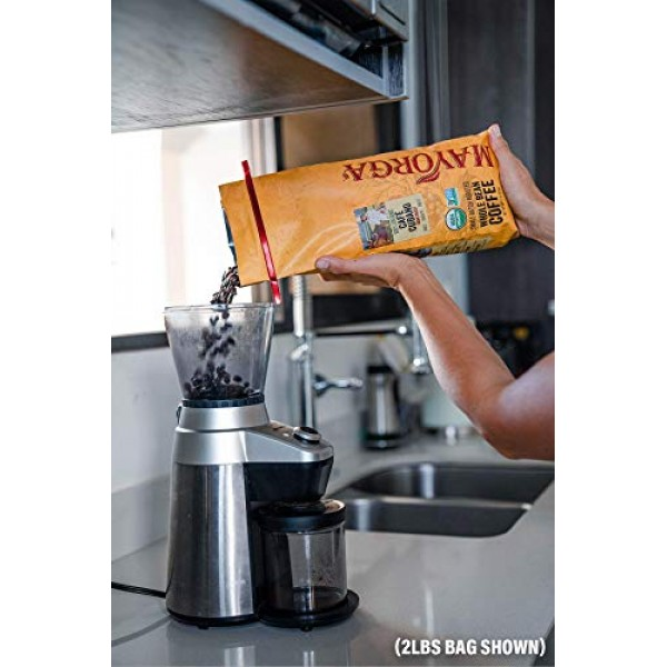 Mayorga Organics Café Cubano, Dark Roast Whole Bean Coffee, 12oz...