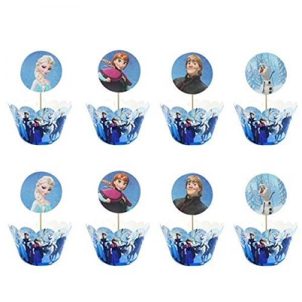 24pc Frozen Cake Topper Baby Shower Child Birthday Party Supplie...