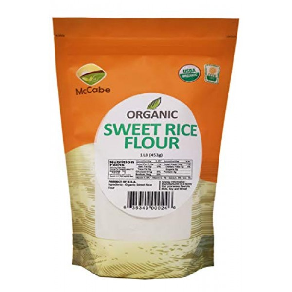 McCabe Organic Sweet Rice Flour, 1 lb 16 oz