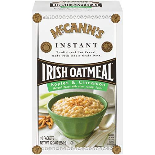 McCanns Instant Oatmeal, Apples & Cinnamon, 10 Count