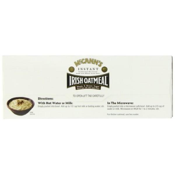 McCANNS Instant Irish Oatmeal, Maple & Brown Sugar, 10-Count Bo...