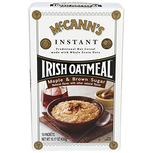 McCanns Maple & Brown Sugar Instant Irish Oatmeal, 10 Count