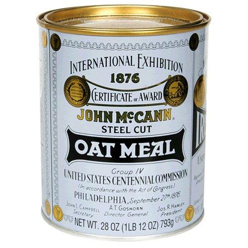McCANNS Steel Cut Irish Oatmeal, 28-Ounce Tins Pack of 6