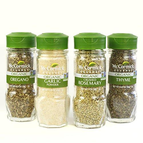 McCormick Gourmet Organic Garlic & Herbs Everyday Basics Variety...