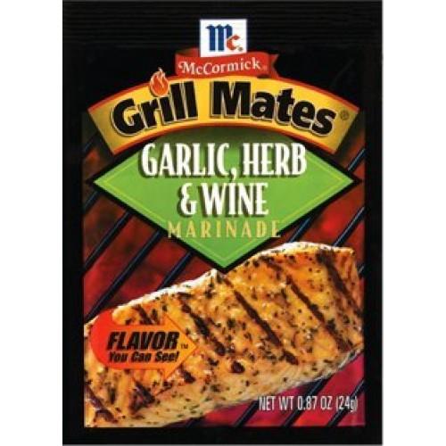 Grill Mates Garlic Herb & Wine Marinade, .87 Oz Envelope 4 Pack