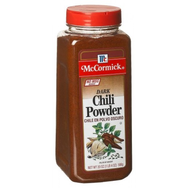 McCormick Chili Powder, Dark no Msg, 20-Ounce Units Pack of 2
