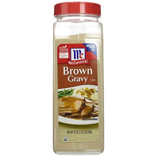 McCormick, Brown Gravy Mix, 21oz Container (Pack of 2)