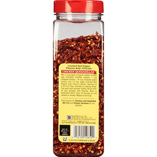 McCormick Crushed Red Pepper, 13 oz packaging may vary