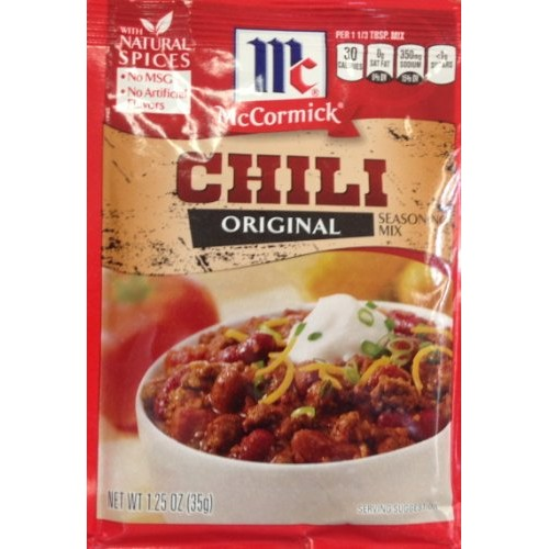 McCormick Original CHILI Seasoning Mix 1.25oz 5 Packets
