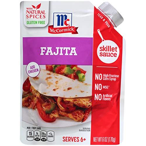 McCormick Gluten Free Fajita Skillet Sauce, 6 Ounce Pack of 6