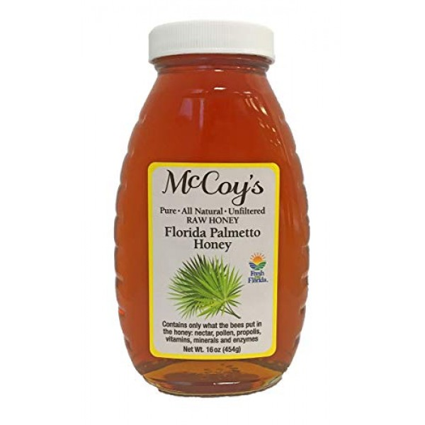Raw Honey - Pure All Natural Unfiltered & Unpasteurized - McCoy...