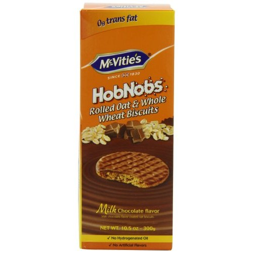 McVities Milk Chocolate Hob Nobs, 10.5-Ounce Pack of 4