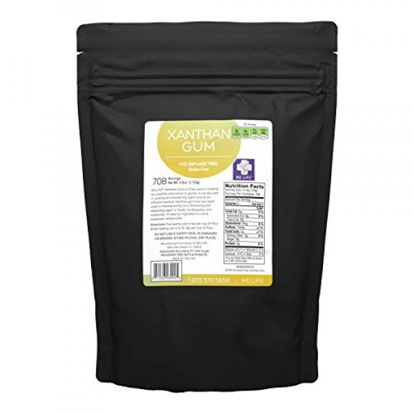 MD. Life Xanthan Gum Powder 2.5 LB – 100% Natural – Xanthan Gum ...