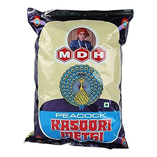 Peacock Kasoori Methi dried Fenugreek Leaves 3.5 Oz 100 grams...