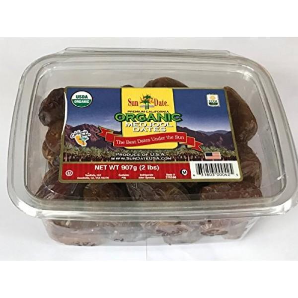 Organic California Medjool Dates, 2 lbs, 907g
